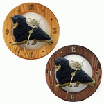 Pomeranian Wall Clock-Black and Tan