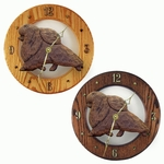 Pomeranian Wall Clock-Brown