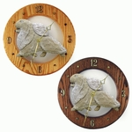 Pomeranian Wall Clock-Cream