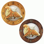 Pomeranian Wall Clock-Orange