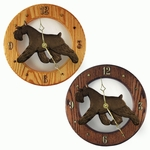 Schnauzer (minature) Wall Clock-Black
