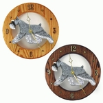 Schnauzer (minature) Wall Clock-Salt-Pepper