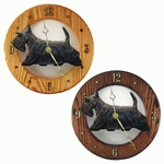 Scottish Terrier Wall Clock-Black