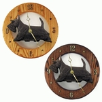 Scottish Terrier Wall Clock- Brindle