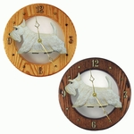 Scottish Terrier Wall Clock-Wheaten