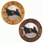 Shiba Inu Wall Clock-Black and Tan