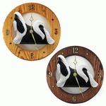 Shih Tzu Wall Clock-Black-White