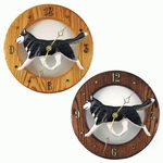 Siberian Husky Wall Clock-Black-White