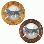 Siberian Husky Wall Clock-Grey-White