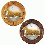 Welsh Corgi (Pembroke) Wall Clock-Blonde