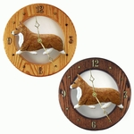 Welsh Corgi (Pembroke) Wall Clock-Red