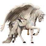Angel White Carousel Horse Ornament