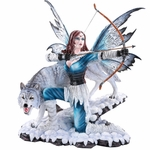 Archer Fairy with Wolf