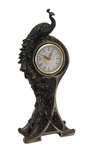 Art Nouveau Peacock Clock