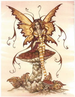 Autumn Beauty Fairy Art Print by Amy Brown