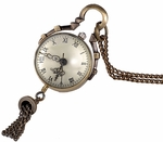 Ball Shape Antique Necklace Watch