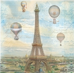 Balloons Over Paris Beverage Napkins