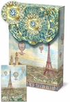 Balloons Over Paris Decorative Pouch Note Cards