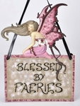 Blessed by Faeries Wall Plaque