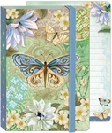Blue-Green Butterfly Soft Cover Bungee Journal