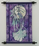 Blue Moon Fairy Art Scroll