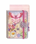 Butterfly Bubbles Brooch Pocket Journal