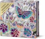 Violet Butterfly Compact Mirror with Note Pad