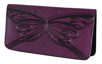 Butterfly Leather Check Book Cover