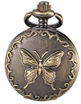 Butterfly Pocket Watch Necklace