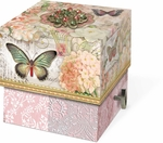Butterfly Postcards Square Music Box Soap