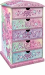 Butterfly Rainbow 5-Drawer Chest