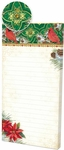 Cardinal Poinsettias Magnetic List Pad