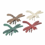 Cast Iron Painted Dragonfly Set