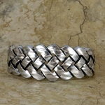 Celtic Braid Pewter Bracelet