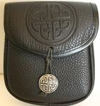 Celtic Circle Leather Belt Pouch (Medium)