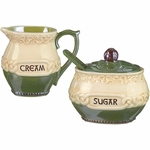 Celtic Creamer & Sugar
