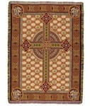 Celtic Cross Tapestry Throw Blanket