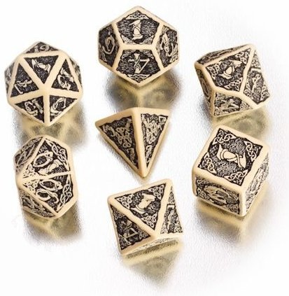Celtic 3d Gaming Dice Set By Q Workshop Fairyglen Com