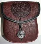 Celtic Fish Knot Leather Belt Pouch (Medium)