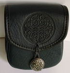 Celtic Fish Knot Leather Belt Pouch (Small)