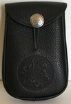 Celtic Horse Leather Belt Pouch (Deep)
