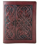 Celtic Hounds Leather Composition Notebook
