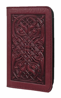 Celtic Hounds Leather Check Book Cover