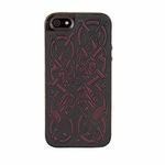 Celtic Hounds Leather iPhone Case