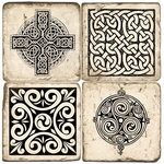 Celtic Knot Marble Coaster Set