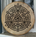Celtic Owl Hand-Painted Drum