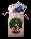 Celtic Tree of Life Dice & Tarot Bag