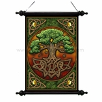 Celtic Tree of Life Art Scroll