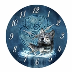 Celtic Wolf Clock