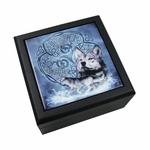 Celtic Wolf Tile Box